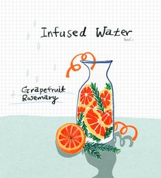Infused water is easy to do, but there are a few things you should know first. Here are some things to keep in mind when you are making your infused water. Cute Illustration, Graphic Design Illustration, Recipe Drawing, Recipe Cover, Food Drawing, Infused Water, Typography Prints, Food Illustrations, Easy Drawings