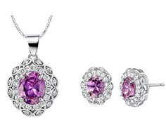 Layla Jewelry Swarovski Elements Crystal Jewelry Sets include Pendant Necklace and Stud Earrings for Ladies * You can find more details by visiting the image link.