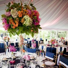 Event decor at the Henry Clay Frick Estate, Pittsburgh, PA