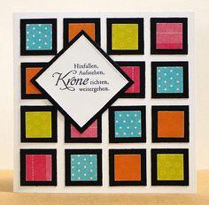 "blog.karten-kunst.de - Quadrate I. Memory Box Mini Perfect Patches, Memory Box Studio Square Layers, Karten-Kunst Clear Stamp Set Weise Worte ""Mut"""