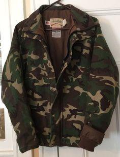 c9836412317 Cabela s Gore Tex Made in USA Mens Sz XL Jacket BDU Four Color Woodland  Camo EXC