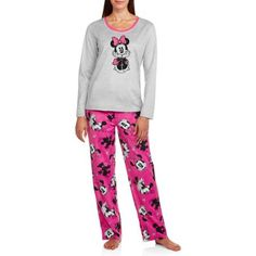 Women's & Women's Plus Giftable Character Long Sleeve and Pant PJ Set - Walmart.com