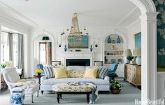 Blue and White House - Blue and White Decorating Ideas