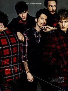 Luka Badnjar, Peter Bruder, Malthe Lund Madsen, Stephane Olivier & Giancarlo by Emilio Tini for GQ Italia