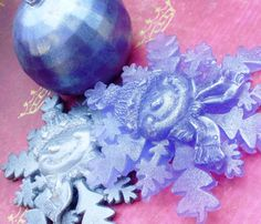 SOAP Snowmen Snowflakes and Ornament Guest Soap by thecharmingfrog, $11.00