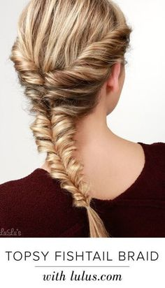 How to Create the Best Fishtail Braids on Pinterest | Topsy Fishtail