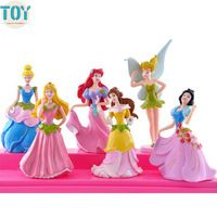 New 6pcs Princess Dolls Snow White Ariel Jasmine Cinderella Flower Fairy Tinker…