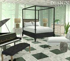 Black White Rooms, Black And White, Design Home App, House Design, Decor Interior Design, Interior Decorating, Outdoor Furniture, Outdoor Decor, Bed