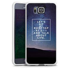 Rooftop für Silikon Case (weiß) für Samsung Galaxy Alpha von DeinDesign™