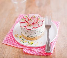 Recette Cheesecake aux radis roses. Aussi frais que surprenant !