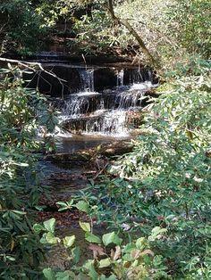 Crow Creek Falls near Lake Rabun Ga