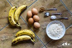Banánový chlebíček z kokosové mouky (Banana bread)   Horama Eggs, Fruit, Breakfast, Food, Morning Coffee, Essen, Egg, Meals, Yemek