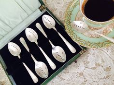 Personalised Gift. Silverplated Coffee Spoons. by VintageCandy2u
