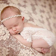 £2.44 GBP - Newborn Baby Bodysuit Romper Girl Lace Floral Photo Props Photography Costume #ebay #Home & Garden