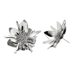 Women's Meadowlark Large Wildflower Stud Earrings (42,575 INR) ❤ liked on Polyvore featuring jewelry, earrings, sterling silver, stud earrings, hand crafted jewelry, handcrafted sterling silver jewelry, sterling silver earrings and handcrafted earrings