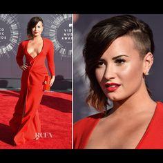 Demi Lovato in the Triangle Earrings