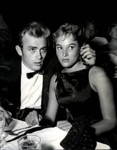 James Dean & Ursula Andress at the dinner in LA, 1955 #TheBeautyAddict