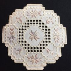 "Hardanger embroidery doily. Size is approximately 8"" square. Hardanger  Embroidery f181d24ac"