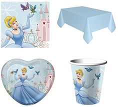 cool Disney Princess Cinderella Party Pack for 8 with Table Cover Check more at http://partythemesforbirthday.com/product/disney-princess-cinderella-party-pack-for-8-with-table-cover/