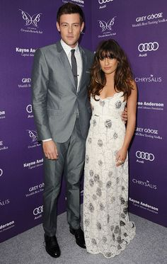 GLEE COUPLE LEA MICHELE AND CORY MONTEITH LOOK LOVED UP AT THE CHRYSALIS BUTTERFLY BALL - PICS