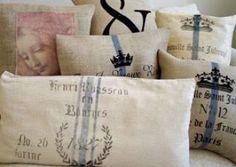 COSAS DE PALMICHULA: DECORAR CON TELA DE SACO-ARPILLERA-LINO RÚSTICO