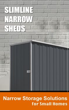 The typical Australian suburban home is changing and many of us now require storage solutions which are narrow or slim so they can be tucked away neatly around the home. Narrow Shed, Narrow Garden, Under Deck Storage, Shed Storage, Cheap Sheds, Outdoor Life, Outdoor Decor, Garage Roof, Under Decks