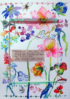27-10-10 My Dear Friend (Watercolor : Postcard Size) by Bua S, via Flickr