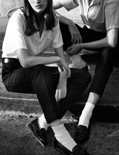 Gentlewomen prefer: socks and loafers (Photographed by Annemarieke van Drimmelen for Muse )