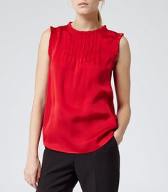 From casual style staples to stand-out designs, we have the perfect women's tops to keep you on-trend this season. Shop tops for women now. Shell Tops, Red, Shopping, Vibrant, Ceramics, Contemporary, Women, Fashion, Moda