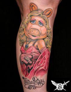 Miss Piggy Tattoo by Russ Abbott #tattoos #MissPiggy #Muppets #MissPiggyTattoo http://tattoopics.org/miss-piggy-tattoo-by-russ-abbott/