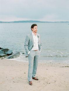 Groom's attire   Kristina Malmqvist Photography   see more on: http://burnettsboards.com/2015/07/demure-beach-wedding/