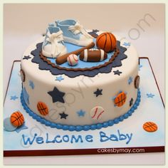 baby boy sports shower ideas | Sports Baby Shower Cake