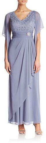 Cachet Lace Cascade Gown