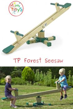 TP Forest Seesaw Traditional wooden seesaw with a twist.it twists! Go up & down and round & round. Outdoor Toys, Outdoor Play, Sand Pits For Kids, Round Round, Social Activities, Gross Motor Skills, Seesaw, Garden Toys, Twists