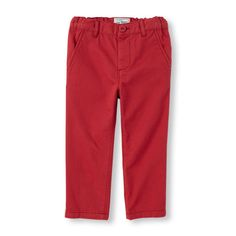 Baby Boys Toddler Boys Skinny Chino Pants - Red - The Children's Place