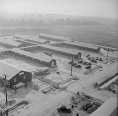 [Photo] View of the west section of the hospital at Jerome War Relocation Center, Arkansas, United States, 17 Nov 1942 Japanese American, World War Ii, Arkansas, United States, The Unit, World War Two, Wwii