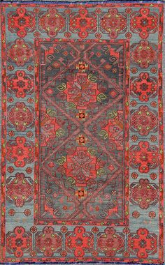 "Turkish kilim, wool, 6'6""X10'2"", 1920, Keivan Woven Arts Gallery"