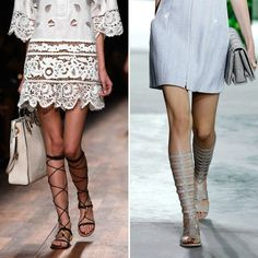 Gladiator sandals are back this spring.