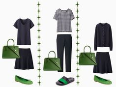 Integrating a New Accent Color: Leaf Green into your capsule wardrobe