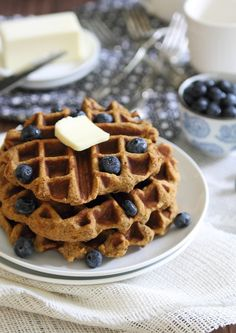Sweet potato waffles - Running to the Kitchen (grain-free, dairy-free and refined sugar-free)