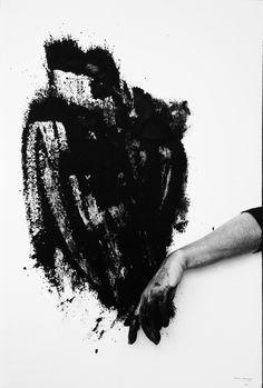 Helena Almeida, Black Exit, 1995, Black and white photograph, 71 x 48 cm