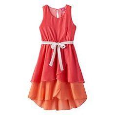 af1ff9e923e4 Pinky Los Angeles High-Low Colorblock Dress - Girls 7-16 Next Dresses,