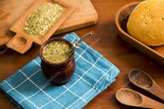 Is a traditional South American caffeine-rich infused drink. National Beverage in #Argentina and #Uruguay, as also in #Paraguay, the #Bolivian Chaco, Southern #Chile and Southern #Brazil  #mate #infused #drink #southamerica #yerba #straw #bombilla #silver #wood #traditional #mate #bread