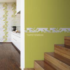 9474-13 Schöner Wohnen 5 - livingwalls Borte Blumen weiß grün