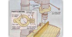 Drill Press Stop - Drill Press Tips, Jigs and Fixtures | WoodArchivist.com
