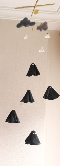 Hang a ghostly mobile. #etsyhalloween #etsyfinds