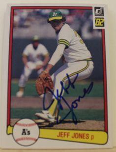 Jeff Jones Oakland Athletics Autographed 1982 Donruss Card