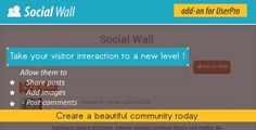 Social Wall Addon for UserPro is a WordPress Plugin being distributed by Codecanyon. Social Wall Addon for UserPro allows you - Joomla Templates, Wordpress Plugins, Wordpress Free, Premium Wordpress Themes, Ads, Community, Scripts, Extensions, Software