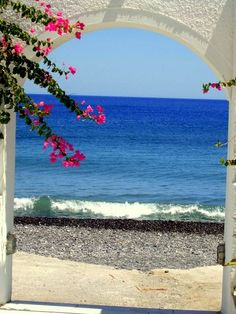 Kamari Beach, Santorini , Greece