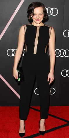 Elisabeth Moss' Best On and Off-Screen Style Moments - Audi 2014 Golden Globes Weekend Cocktail Party from #InStyle